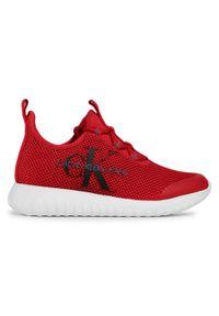 Czerwone półbuty Calvin Klein Jeans na co dzień, casualowe, z cholewką