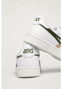 Białe sneakersy Asics z cholewką, na sznurówki
