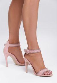 Różowe sandały na słupku Renee