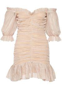 Złota sukienka koktajlowa Nissa