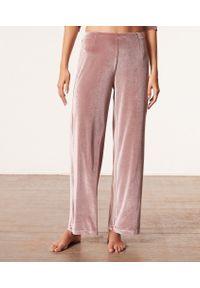 Velvety Pantalon De Pyjama - S - Brązowy - Etam. Kolor: brązowy