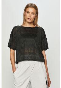 Czarna bluzka DKNY na co dzień, casualowa