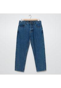 House - Jeansy dad fit z bawełny organicznej - Niebieski. Kolor: niebieski