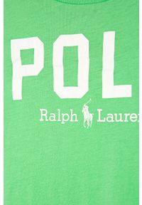 Zielona bluzka z krótkim rękawem Polo Ralph Lauren na co dzień, polo, casualowa