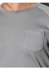 Ombre Clothing - T-shirt męski bez nadruku S1182 - szary - XXL. Kolor: szary. Materiał: bawełna, tkanina, poliester. Styl: klasyczny