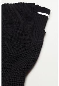 Czarny sweter Mango Kids na co dzień, casualowy, gładki