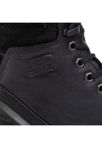 Czarne buty trekkingowe ecco z cholewką
