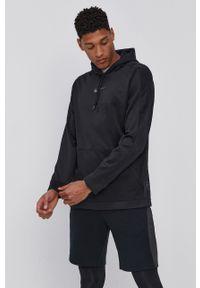 Nike - Bluza. Kolor: czarny. Materiał: tkanina, włókno, skóra