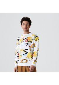 Cropp - Bluza z nadrukiem Smiley® - Biały. Kolor: biały. Wzór: nadruk