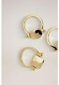 Złoty pierścionek mango metalowy