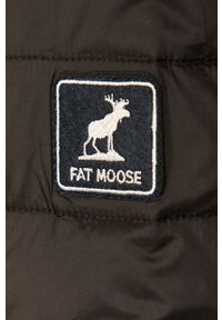 Czarna kurtka Fat Moose bez kaptura, na co dzień, casualowa