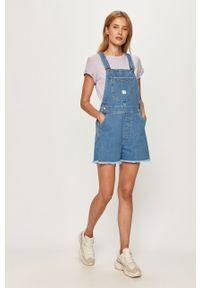 Niebieskie ogrodniczki jeansowe Lee