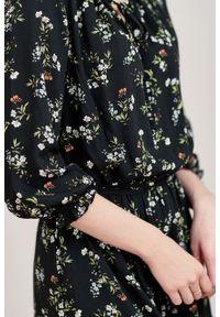 Marie Zélie - Sukienka Cecilia Danza. Materiał: bawełna, wiskoza, materiał, tkanina, skóra, poliester. Wzór: napisy, aplikacja