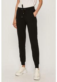 Czarne spodnie dresowe Trussardi Jeans z nadrukiem