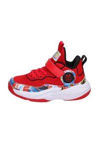 American Club - Sportowe buty dziecięce AMERICAN BD06/21 RD. Kolor: czerwony. Materiał: tkanina, skóra