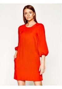 Pomarańczowa sukienka Manila Grace prosta, casualowa