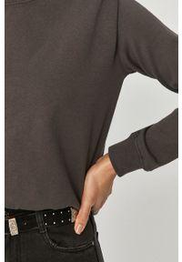 Answear Lab - Bluza bawełniana. Okazja: na co dzień. Kolor: szary. Materiał: bawełna. Długość rękawa: długi rękaw. Długość: długie. Styl: wakacyjny