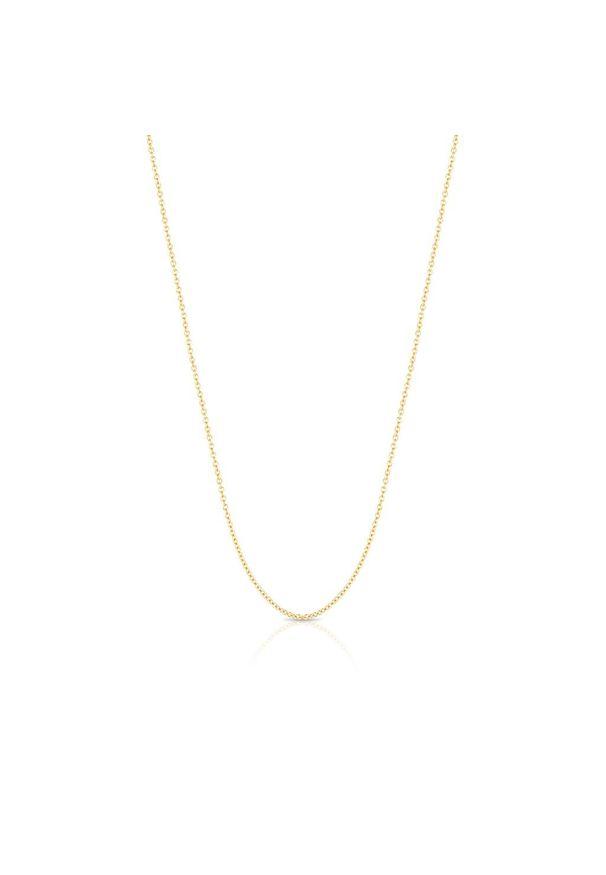 W.KRUK Piękny Łańcuszek Złoty - złoto 585 - ZSI/LA01. Materiał: złote. Kolor: złoty. Wzór: ze splotem