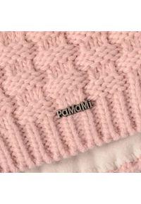 Różowa czapka zimowa PaMaMi klasyczna