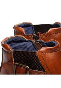Brązowe buty wizytowe Bugatti