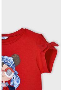 Czerwona bluzka z krótkim rękawem Mayoral casualowa, na co dzień, krótka