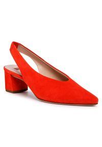 Pomarańczowe sandały HÖGL casualowe, na co dzień