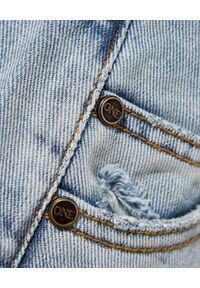 ONETEASPOON - Niebieskie jeansy Smiths Low Waist. Stan: obniżony. Kolor: niebieski. Wzór: aplikacja. Styl: klasyczny, elegancki