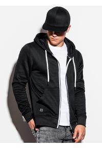 Czarna bluza Ombre Clothing klasyczna, z kapturem