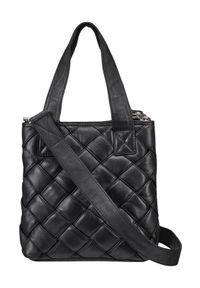Czarna torebka DEPECHE. na ramię, skórzana