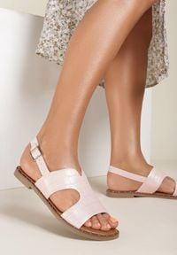Renee - Różowe Sandały Sereibelle. Kolor: różowy