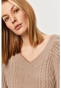 Beżowy sweter Answear Lab wakacyjny, na co dzień