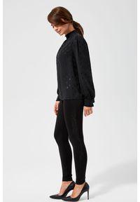 Czarne spodnie MOODO z aplikacjami, klasyczne