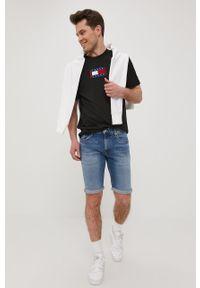 Biała bluza nierozpinana Tommy Jeans bez kaptura, z aplikacjami, na co dzień, casualowa