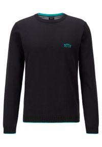 Czarny sweter klasyczny BOSS