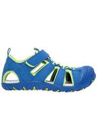 Niebieskie sandały 4f na wiosnę, sportowe, na rzepy