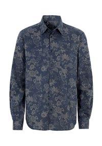 Cellbes Koszula granatowy we wzory male niebieski/ze wzorem S. Kolor: niebieski. Materiał: tkanina. Długość rękawa: długi rękaw. Długość: długie
