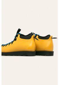 Żółte sneakersy Native z cholewką, na sznurówki #5