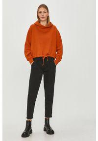 Pomarańczowa bluza only raglanowy rękaw, z kapturem