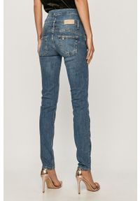 Niebieskie jeansy Liu Jo z podwyższonym stanem