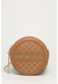 Listonoszka Love Moschino z aplikacjami, mała