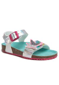 Srebrne sandały Agatha Ruiz de la Prada casualowe, z aplikacjami