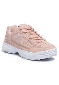Kappa - Sneakersy KAPPA - Rave Sc 242796 Rose 2121. Okazja: na co dzień. Kolor: różowy. Materiał: skóra ekologiczna, materiał. Szerokość cholewki: normalna. Styl: casual