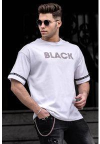 Biały t-shirt IVET z nadrukiem, na co dzień, casualowy
