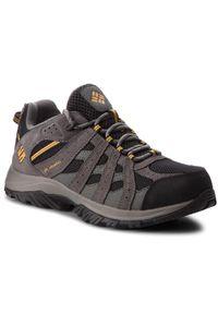 Szare buty trekkingowe columbia trekkingowe, z cholewką