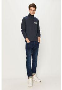 Niebieska bluza nierozpinana Tommy Jeans casualowa, krótka, bez kaptura