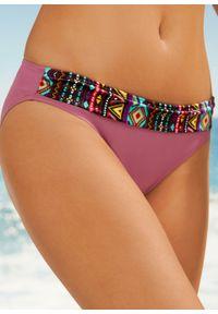 Bikini na fiszbinach (2 części) bonprix bordowy. Kolor: fioletowy