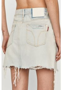 Miss Sixty - Spódnica jeansowa. Okazja: na co dzień. Stan: podwyższony. Kolor: niebieski. Materiał: jeans. Styl: casual