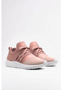 Różowe sneakersy ARKK Copenhagen na sznurówki, na średnim obcasie