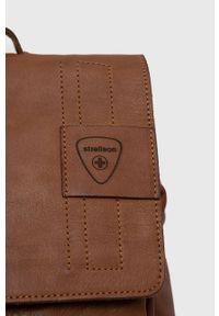 Strellson - Plecak skórzany. Kolor: brązowy. Materiał: skóra