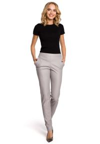 Szare spodnie MOE eleganckie